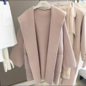 Nude pink knit coat